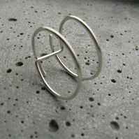 Line .  simple modern silver ring . minimalist handmade geometric ring
