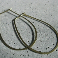 Oval geometric hoops, classic egyptian hoop earrings, large thin hoop earrings