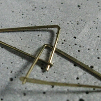 Triangle, modern geometric hoops, small minimalist triangle hoop earrings