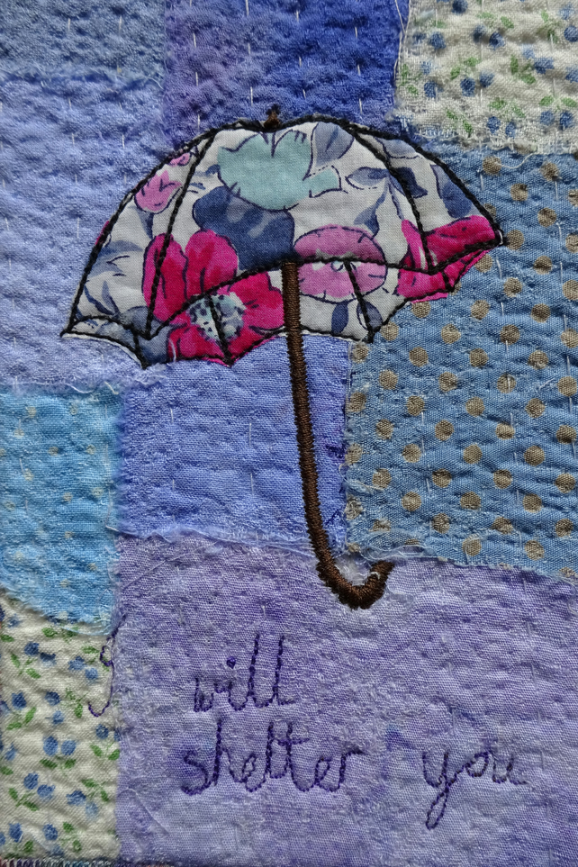 Liberty Umbrella Textile Art Picture