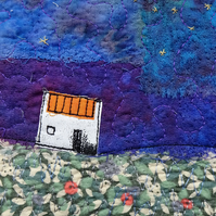 """Northern Lights"" Textile Art Picture"