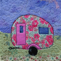 Liberty Caravan Textile Art Picture