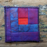 Log Cabin Patchwork Brooch 6