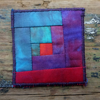 Log Cabin Patchwork Brooch 7