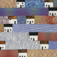 Houses Patchwork Wall Hanging