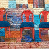 Three Chairs Textile Wall Hanging