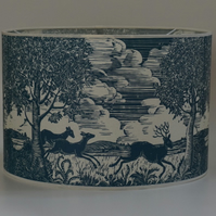 Running Deer hand printed lampshade