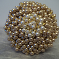 Pearl and Brooch Bouquets