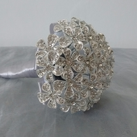 Shimmering Flower Girl Bouquet...Mini Button Bouquet..