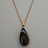 Beautiful Natural Agate Pendant Necklace
