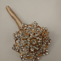 Beautiful Sparkling Brooch Boutonniere
