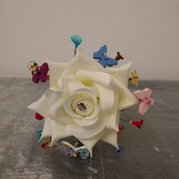 Pretty Flower Girl Bouquet...Flower Girl Wand