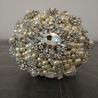 Ivory Pearl Wedding Bouquet... Bridal Bouquet...