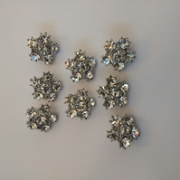Rhinestone Buttons .Small Shank Buttons.