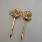 Beautiful Gold Hair Pins. Hair Slides. Set of 2 Beach Theme