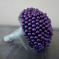 Wedding Bouquet. Beautiful Purple Pearl Bouquet. Bridesmaid Bouquet.