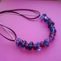 Purple Rockpool Nuggets Necklace