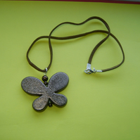 *Sale* Brown Sparkle Butterfly Necklace