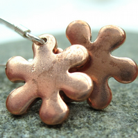 Little Flowers Copper & Sterling Silver Earrings
