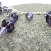 Sale! Purple Swarovski® elements crystal Pendant, purple necklace