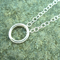 Circle Silver necklace  - Pure design - Circle necklace - Silver Circle