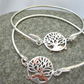 Running Copper Hare Silver Tree of Life Bangle, Bracelet, Tree of Life Hare