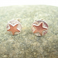 Star Silver Earrings, Stud, Posts, Stars, Superstar, Sterling Sci Fi