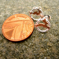 A Teeny Tiny Hare Earrings Copper & Silver earrings