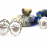 Acorn Earrings Silver Wolds Way Stud Earrings Acorns silver stud earrings