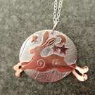 A'Magical' Hare Silver Pendant Moonlight Series Copper Hare Silver Necklace
