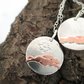 Yorkshire Hare Necklace. Running Hare Sterling Silver & Copper Pendant