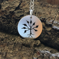 Tree of Life Silver Necklace, Pendant, Metalsmith, Handmade,