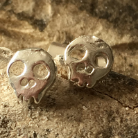 Sugar Skull Earrings  silver stud earrings