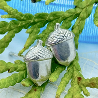 Silver Acorn Earrings Silver Wolds Way Stud Earrings Acorns silver stud earrings