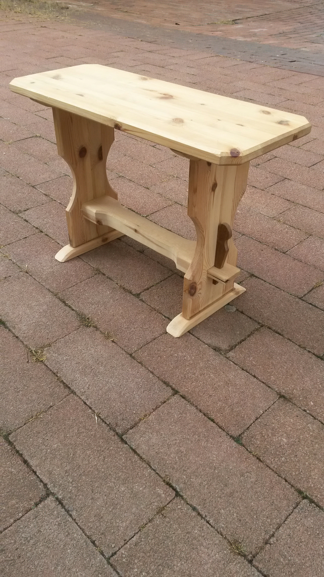 Traditional pinewood  refectory-style stool