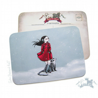 I love my Winter coat -- Card --