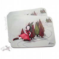 Resting on the woods -- Card --
