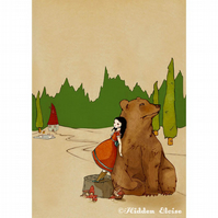 He says he can hear the Forest whisper -- Print 8 1/2 x 11""