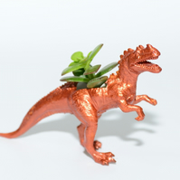 Upcycled Bronze T-rex  Dinosaur Planter with Air Plant or Succulent