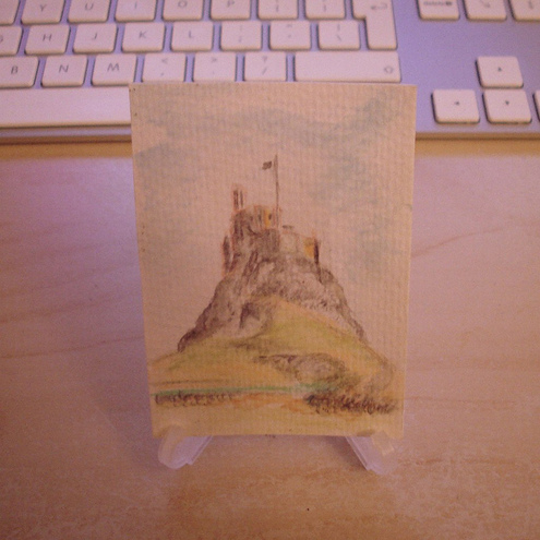 ACEO Lindisfarne Castle