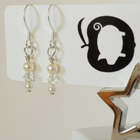 Swarovski crystal and pearl earrings