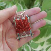 Carnelian Tree of Life Pendant Necklace (Sterling Silver)
