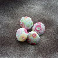 Floral Covered Buttons