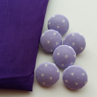 Star Covered Buttons x6