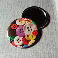Button Pocket Mirror