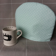 Tea cosy Green and White spot