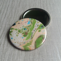 Pocket Mirror Marble Green