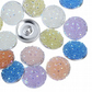 10 Pcs Resin Snap Buttons Fit Snap Bracelets Rose Paillette Mixed DIY 18mm