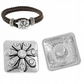 5 Pcs Snap Buttons Charms White Rhinestone Daisy Carved Fit Snap Bracelets
