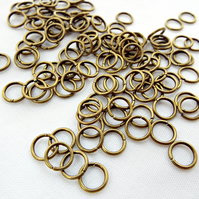 200 Bronze Tone Brass 6mm x 1mm Jump Rings